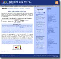 Find Typo-Bargains on eBay